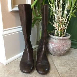 Brown, Born, leather boots